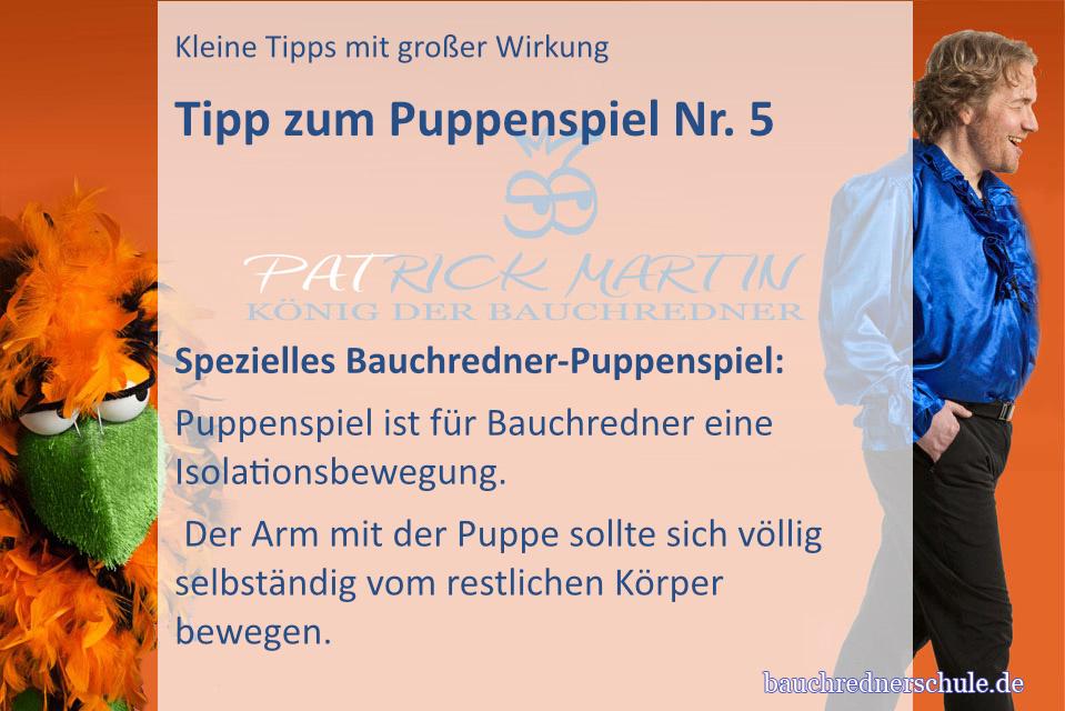Tipp zum Puppenspiel für Bauchredner Nr.1