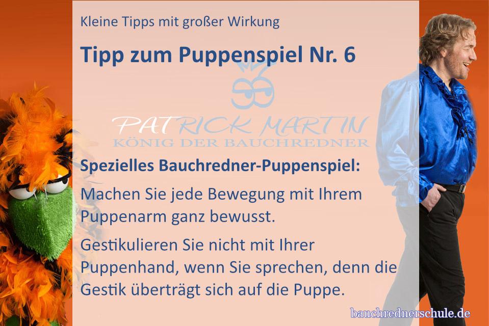 Tipp zum Puppenspiel für Bauchredner Nr. 2