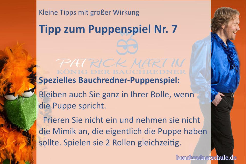 Tipp zum Puppenspiel für Bauchredner Nr. 3